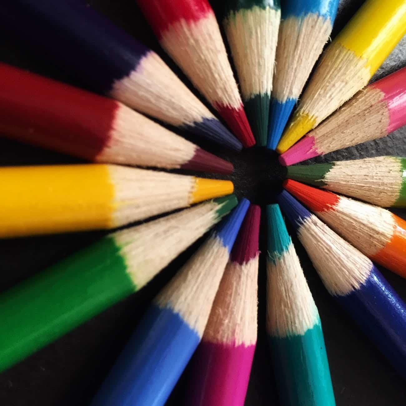 art art materials bright color